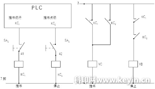 在这个工作电路中再加一个触点工作电流大一点的中间继电器(jtx沪id