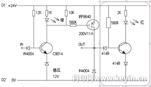 脉冲式无触点电子开关制成小板后接入原电路中,如图3所示,d1&rsquo