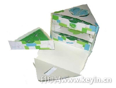 包装盒内部凹槽结构